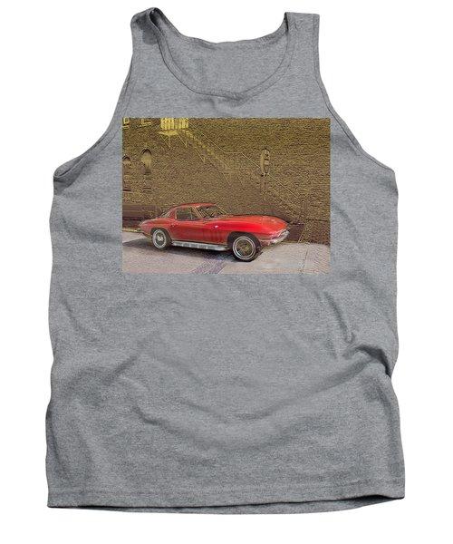 Red Corvette Tank Top