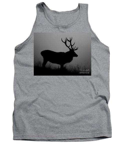 Wildlife Red Deer Stag Silhouette Tank Top