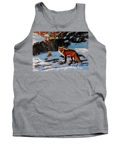 Tank Top featuring the photograph Red Fox In Winter by Diane Alexander