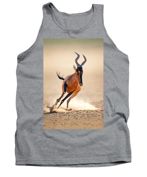Red Hartebeest Running Tank Top