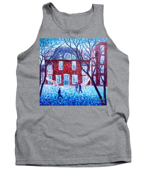 Red House In Montreal - Cityscape Tank Top