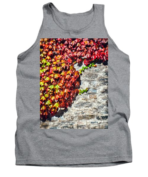 Tank Top featuring the photograph Red Ivy On Wall by Silvia Ganora
