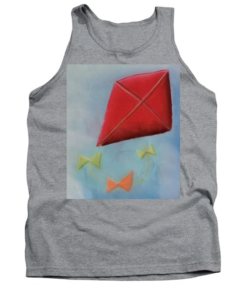 Red Kite Tank Top by Joshua Maddison
