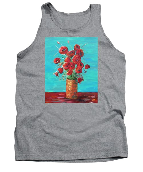 Tank Top featuring the painting Red On My Table  by Eloise Schneider