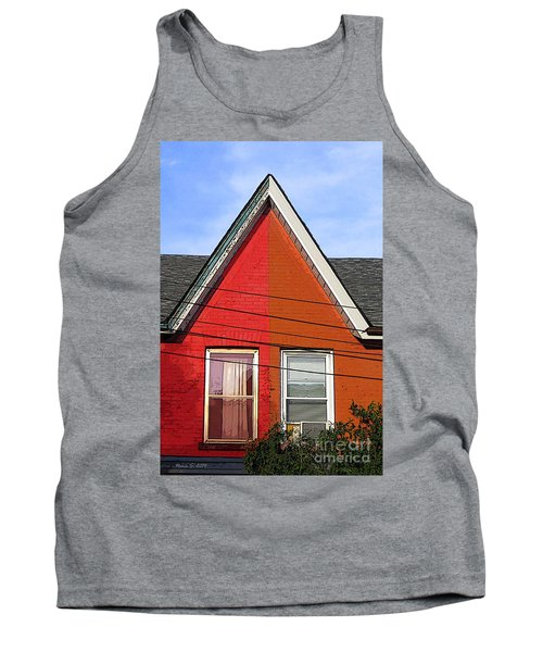 Tank Top featuring the photograph Red-orange House by Nina Silver