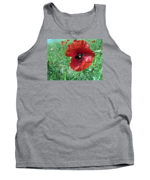 Tank Top featuring the photograph Red Poppy by Vesna Martinjak
