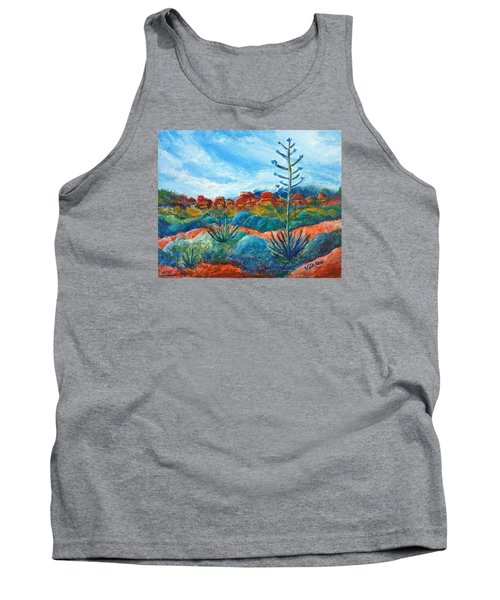 Tank Top featuring the painting Red Rocks by Victoria Lakes