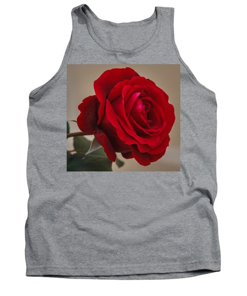 Red Rose Tank Top by Jane Luxton