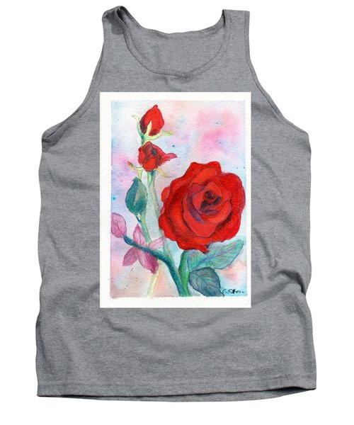 Red Roses Tank Top by C Sitton