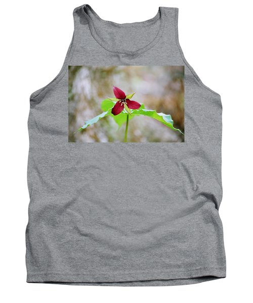Tank Top featuring the photograph Red Trillium by David Porteus