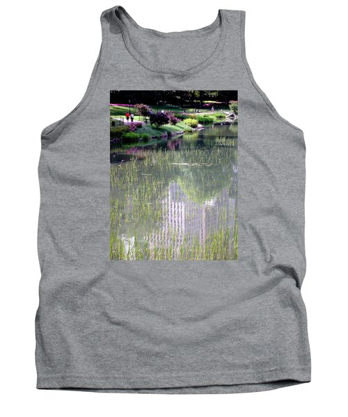 Reflection And Movement Tank Top by Menachem Ganon