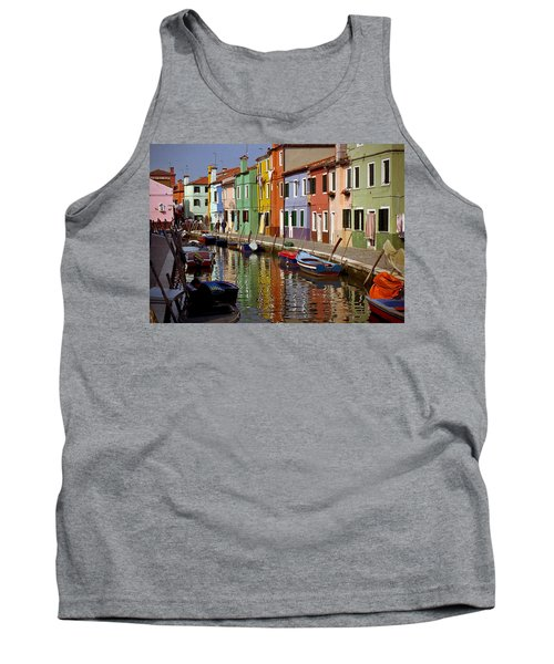 Reflections Of Burano Tank Top