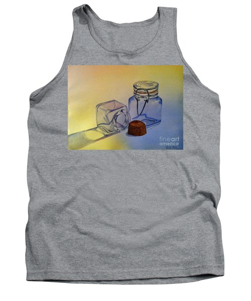 Reflective Still Life Jars Tank Top by Brenda Brown