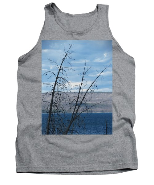 Tank Top featuring the photograph Remnants Of The Fire by Laurel Powell