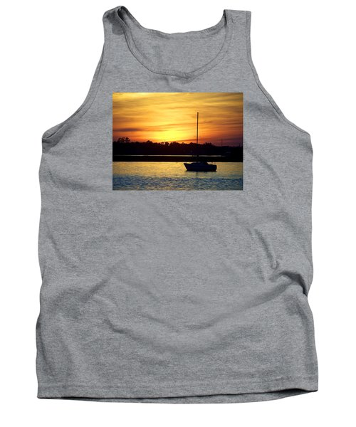 Tank Top featuring the photograph Resting In A Mango Sunset by Sandi OReilly