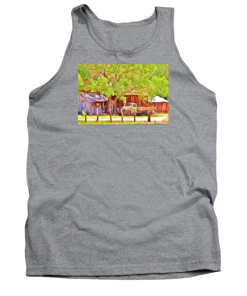 Tank Top featuring the photograph Retired by Marilyn Diaz
