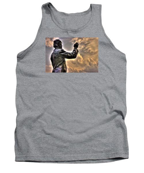 Rev. Father William E. Corby C S C - Blessing The Troops Of The 88th New York Infantry Irish Brigade Tank Top by Michael Mazaika