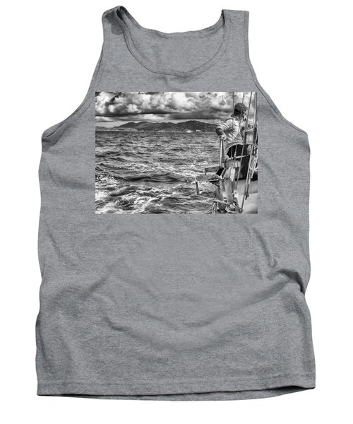Tank Top featuring the photograph Riding The Crest Of The Wave by Howard Salmon