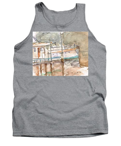 Tank Top featuring the painting River Boat  by Teresa White