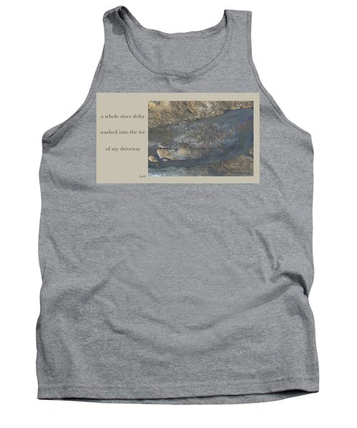 Tank Top featuring the digital art River Delta Haiga by Judi and Don Hall
