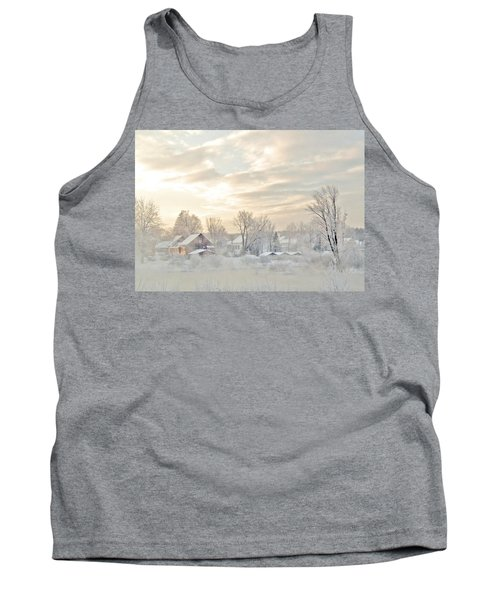 River Mist On A Very Cold New Hampshire Morning Tank Top