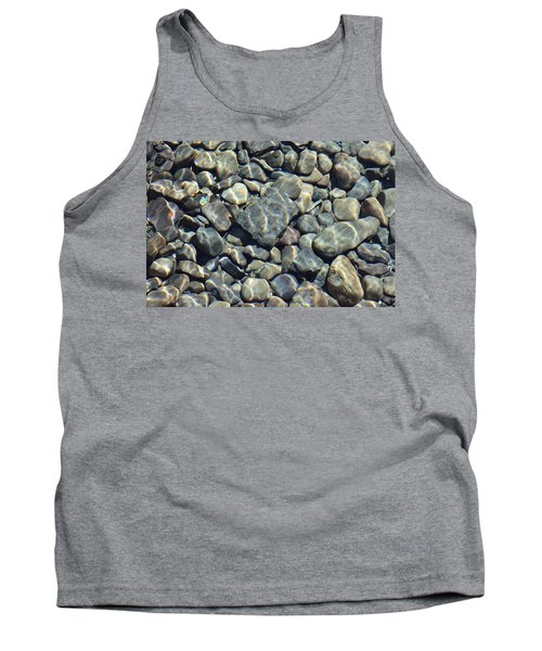 Tank Top featuring the photograph River Rocks One by Chris Thomas