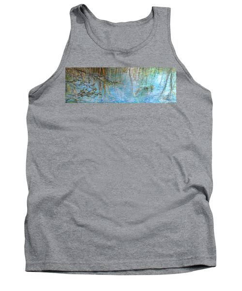 Tank Top featuring the painting River's Stories  by Delona Seserman