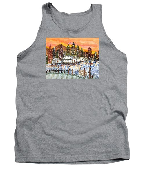 Tank Top featuring the painting Road To The Oregon Coast by Connie Valasco