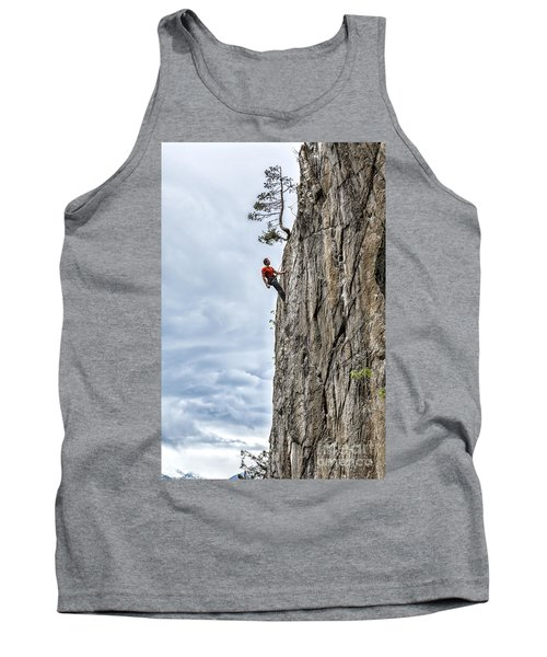Tank Top featuring the photograph Rock Climber by Carsten Reisinger