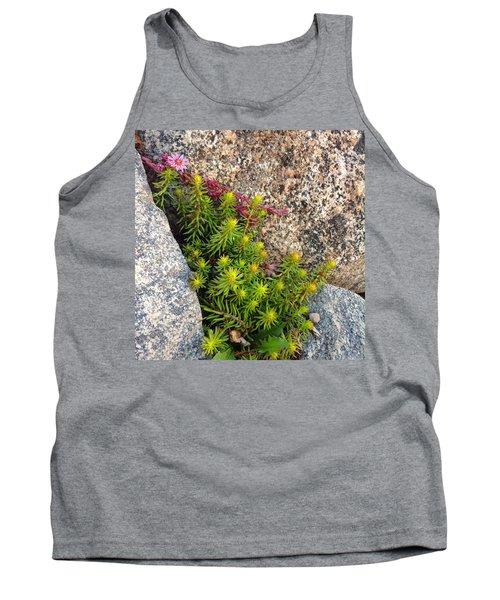 Tank Top featuring the photograph Rock Flower by Meghan at FireBonnet Art