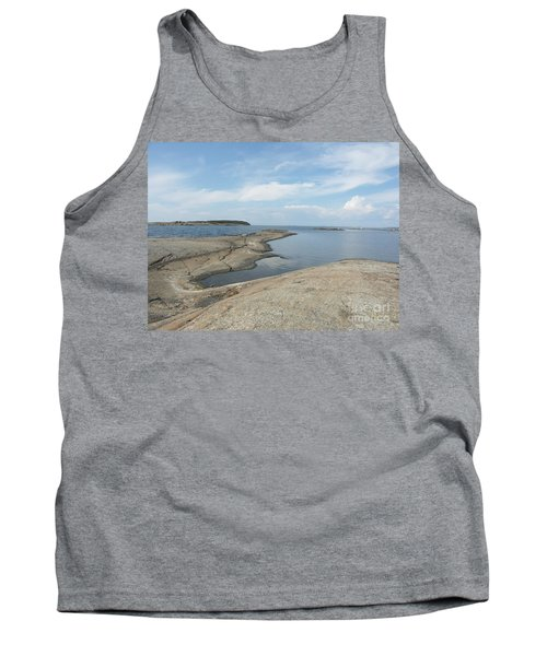 Rocky Coastline In Hamina Tank Top