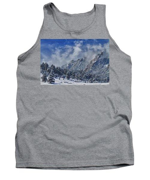 Rocky Mountain Dusting Of Snow Boulder Colorado Tank Top