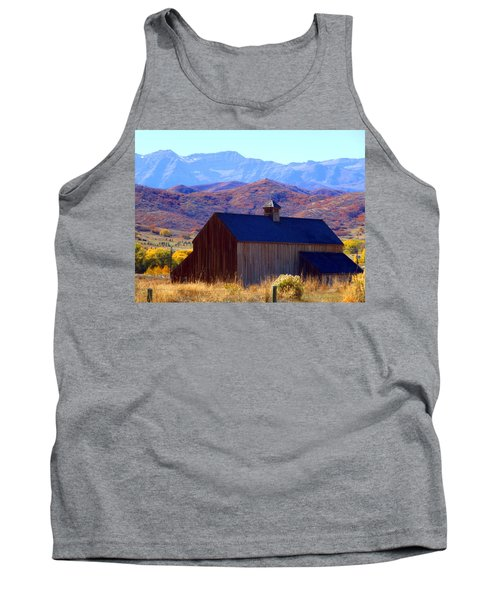 Tank Top featuring the photograph Rocky Mountain Retreat by Jackie Carpenter