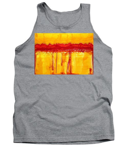 Rocky Mountains Original Painting Tank Top by Sol Luckman
