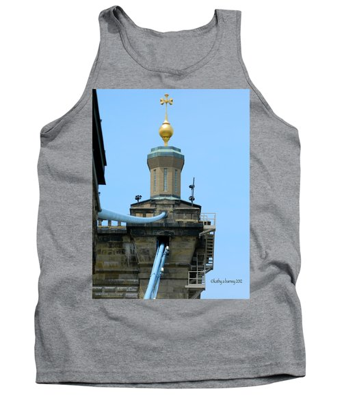 Tank Top featuring the photograph Roebling Bridge From Kentucky by Kathy Barney