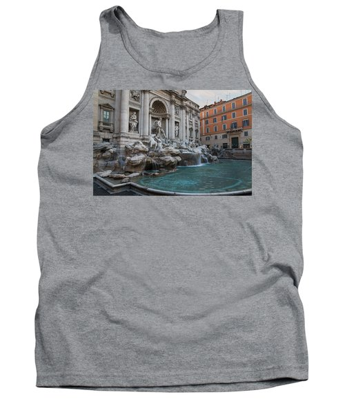 Rome's Fabulous Fountains - Trevi Fountain No Tourists Tank Top