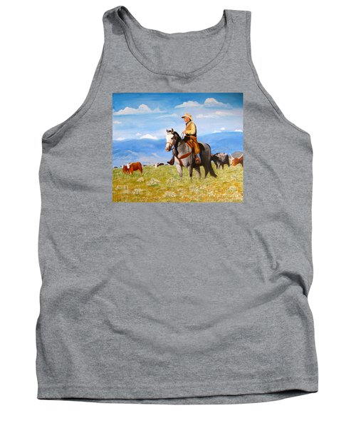 Ron And  Cash At Work Tank Top