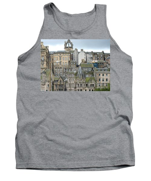 Tank Top featuring the photograph Roofs Of Edinburgh  by Suzanne Oesterling