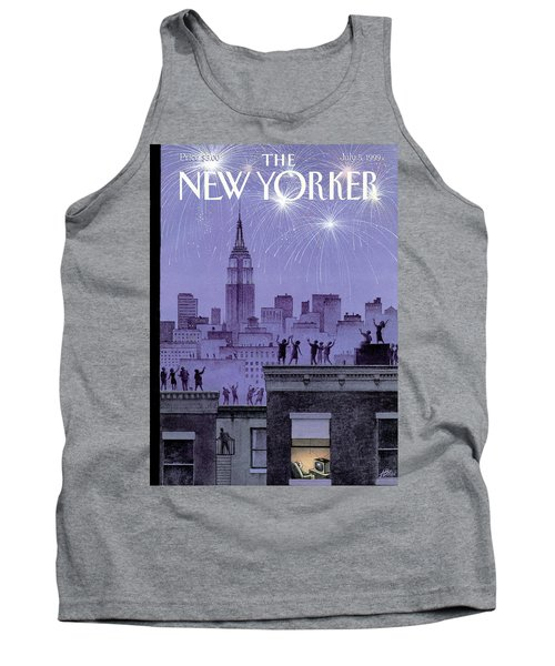 Rooftop Revelers Celebrate New Year's Eve Tank Top