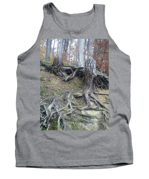 Tank Top featuring the painting Roots by Felicia Tica