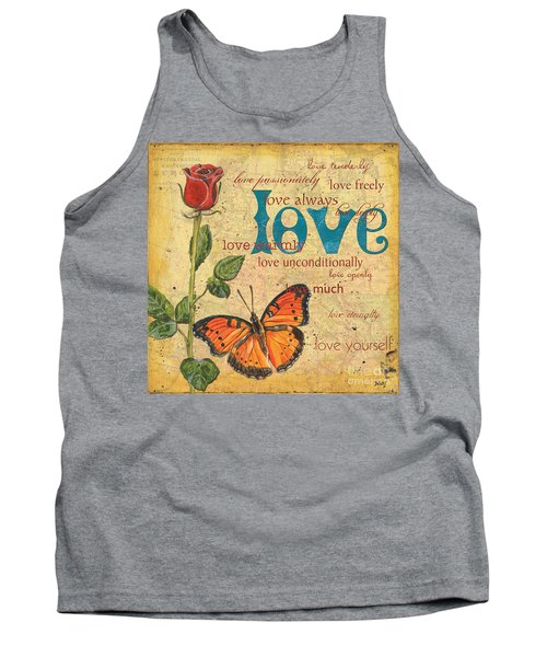 Roses And Butterflies 2 Tank Top
