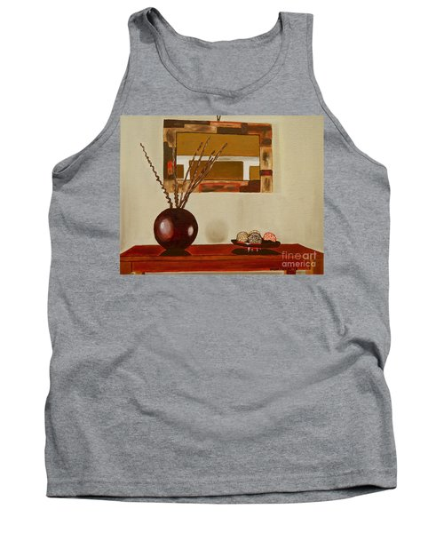 Tank Top featuring the painting Round Vase by Laura Forde