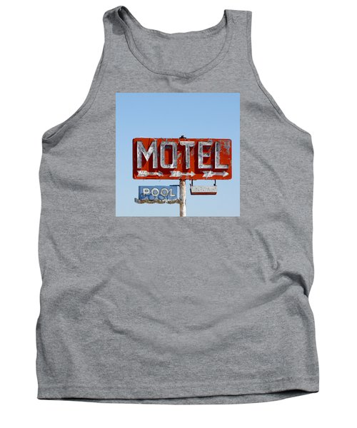 Route 66 Motel Sign Tank Top by Art Block Collections