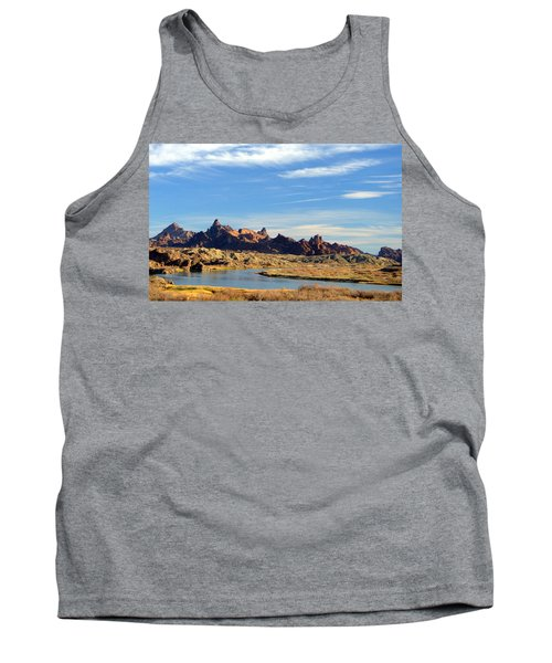 Route 66 Needles Mtn Range Two  Sold Tank Top by Antonia Citrino