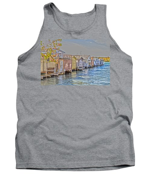 Row Of Boathouses Tank Top by William Norton