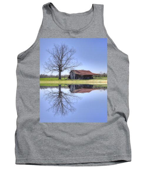 Rustic Barn Tank Top by David Troxel