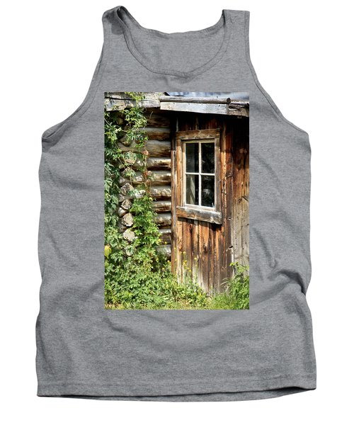 Rustic Cabin Window Tank Top
