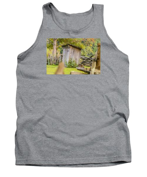 Rustic Fence And Outhouse Tank Top