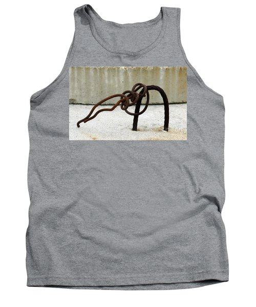 Tank Top featuring the photograph Rusty Twisted Metal I by Lilliana Mendez