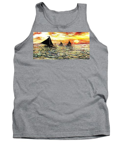 Tank Top featuring the painting Sail Away With Me by Shana Rowe Jackson